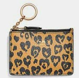 NWT Coach Leather ID Case/Key Ring